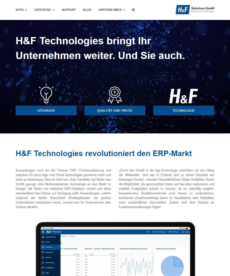 MEHR ZU H&F TECHNOLOGIES